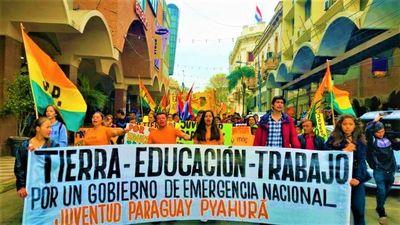 En multitudinaria marcha, jóvenes reclamaron más oportunidades al Gobierno