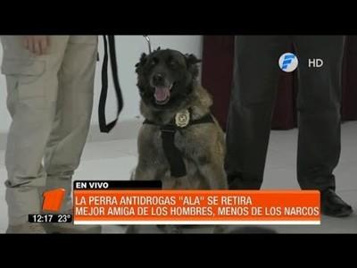Ala, la perra antidrogas se retira con honores