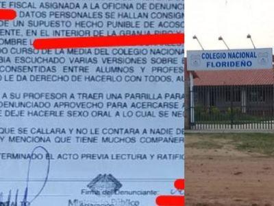 Villa Florida; alumno denuncia a su profesor de guía por acoso sexual