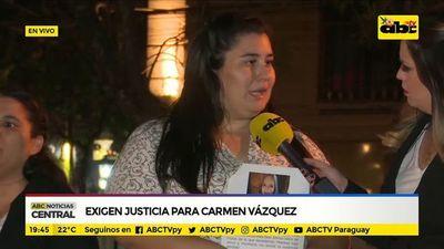 Exigen justicia para Carmen Vázquez