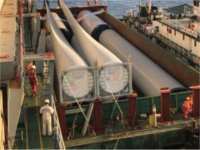 Naviera paraguaya llevará a Bolivia 30 torres eólicas