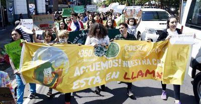 Jóvenes lideran movilización  frente a la crisis climática