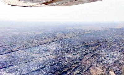 Panorama de desolación y destrucción en Alto Chaco