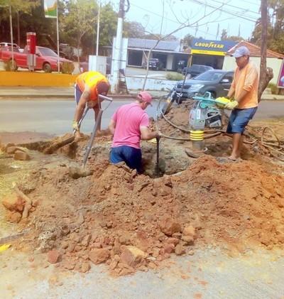 ESSAP y Municipalidad de Asunción trabajan para evitar roturas de asfalto