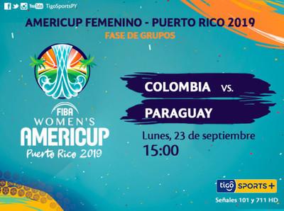 AmeriCup: Paraguay va por la victoria ante Colombia