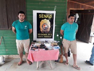 Detienen a dos hombres con cocaína en el Chaco