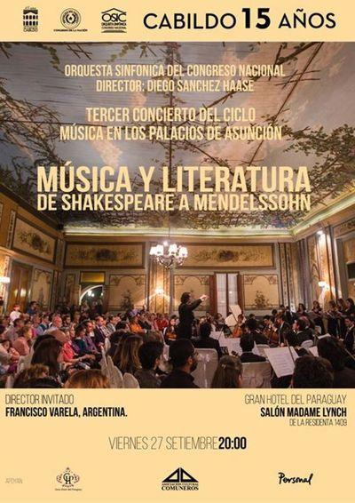 Música en los Palacios presentará concierto literario en el Gran Hotel del Paraguay