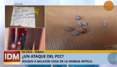 """Rocían a balazos vivienda de familiares del líder del """"Clan Rotela"""""""
