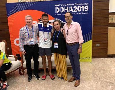 Derlys Ayala ya está en sede del torneo Mundial de Atletismo