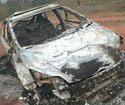 Vehículo incinerado en Horqueta estaba preparado para tráfico, según investigación