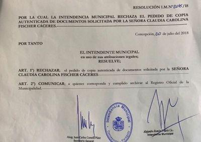 ¿Qué oculta?: Intendente de Concepción viola groseramente Ley de Transparencia