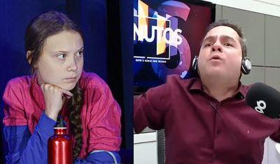 """Polémicas declaraciones de un locutor brasileño: """"Greta Thunberg es una histérica mal amada, necesita sexo"""""""