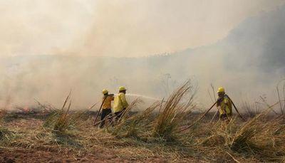 Arde nuevamente el Parque Nacional Caazapá