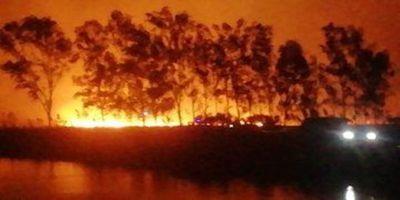 Incendio de grandes proporciones en Ypacaraí