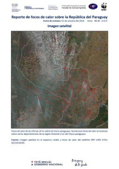 Gobierno refuerza trabajos en focos de incendios en el Chaco