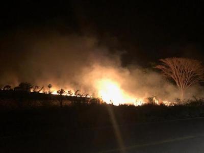 Incendio afecta a estancia del lado chaqueño