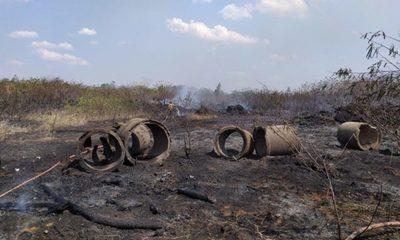 Más de 30 hectáreas fueron quemadas en el Parque Guasu tras incendios