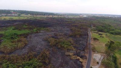 Escena desoladora: 30 hectáreas siniestradas en Parque Guasu