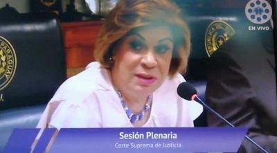 Gladys Bareiro pide colocar fotos de ministros en sedes judiciales