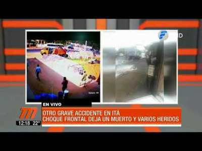 Otro accidente en Itá deja un muerto y varios heridos