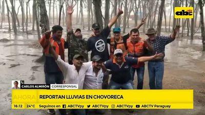 Reportan lluvias en Chovoreca