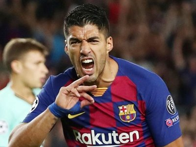 Suárez le dio la victoria al Barça