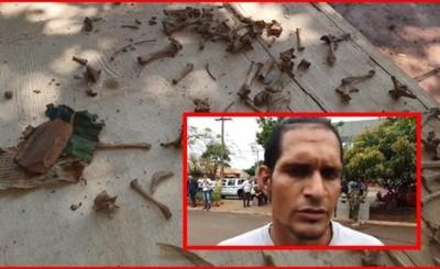 """""""Perro Fiel"""" de Mbururú confiesa que plantaron restos óseos"""