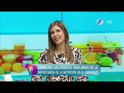 Importancia de la nutrición durante el embarazo con Nadia Cáceres en VLV