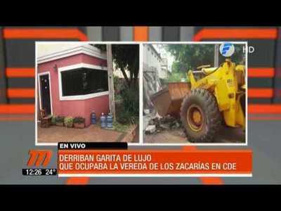 "Derriban caseta de seguridad ""irregular"" de Zacarías Irún"