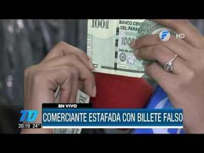 ¡Cuidado! Comerciante fue estafada con dinero falso
