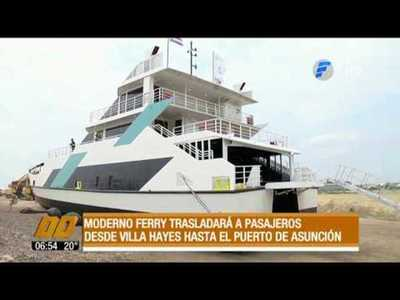 Primer Ferry para transporte de pasajeros y autos
