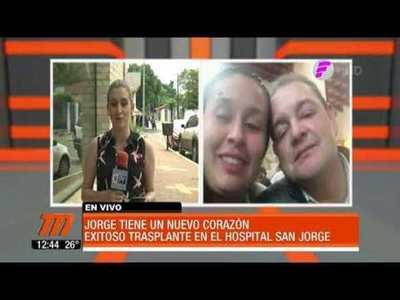 Segundo trasplante de corazón exitoso en el hospital San Jorge