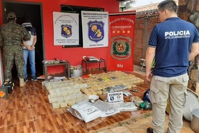 Incautan en Itauguá 100 kilos de cocaína