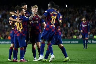 El Barça exhibe pegada en ocho minutos de vértigo
