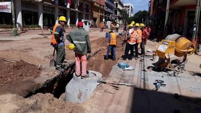 Bloqueos de varias calles de Asunción, para seguir con obras de alcantarillados