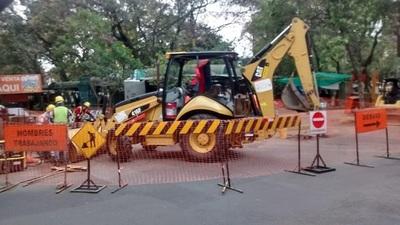 Cerrarán 18 cruces de Asunción por renovación de red de alcantarillado