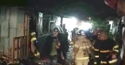 Fuego consumió una casa en Bañado Sur