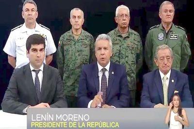 Lenín Moreno acusa a Maduro y Correa de querer desestabilizar su gobierno