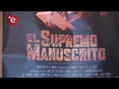PRESENTAN EN ENCARNACIÓN EL LARGOMETRAJE ''EL SUPREMO MANUSCRITO''
