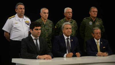 El presidente de Ecuador traslada la sede del gobierno para escapar de las protestas