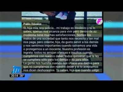Carta del policía asesinado a su pequeña hija