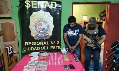 SENAD desmanteló supermercado de drogas en Ciudad del Este
