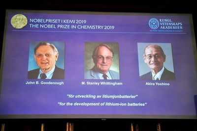 Desarrolladores de las baterías de iones de litio ganan el Nobel de Química