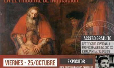 """Hablarán sobre """"Garantías Procesales en el Tribunal de la Inquisición"""" en la UNE"""