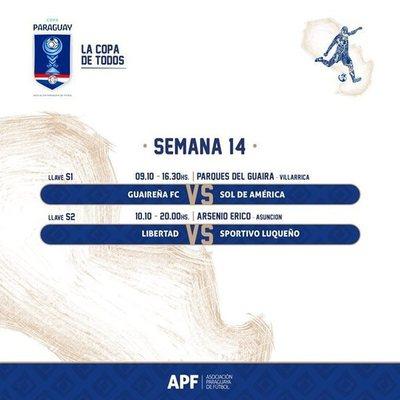 Comienza hoy los cuartos de final de la Copa Paraguay
