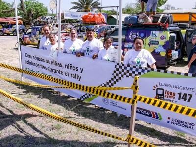 'Respetá mis derechos' en el Transchaco Rally