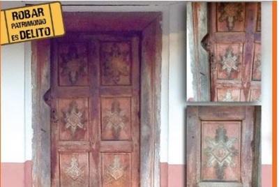 Ministerio Público investiga robo de puerta jesuítica de 300 años de antigüedad