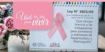 Corte se adhiere a lucha contra el cáncer de mamas