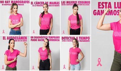 Candidatas se suman a campaña contra el cáncer de mama