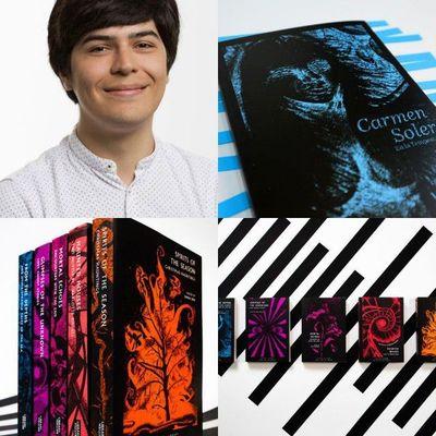 Con atractivas portadas, joven diseñador engalana obras literarias